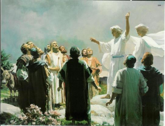 decending to heaven -gospel art
