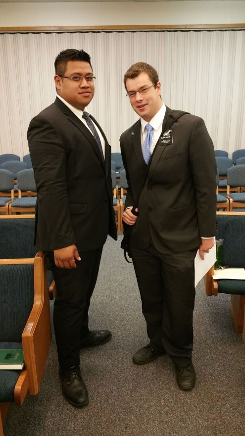 Elder Boyack and Elder Fiame
