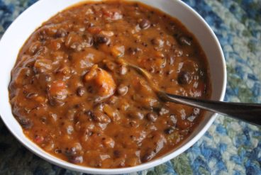 Meatless-Meals-Crockpot-Quinoa-and-Sweet-Potato-Stew-with-Black-Beans-A-Recipe-for-Lent-with-Mary-Lenaburg-1024x688