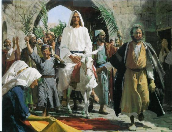 triumphal entry - gospel art