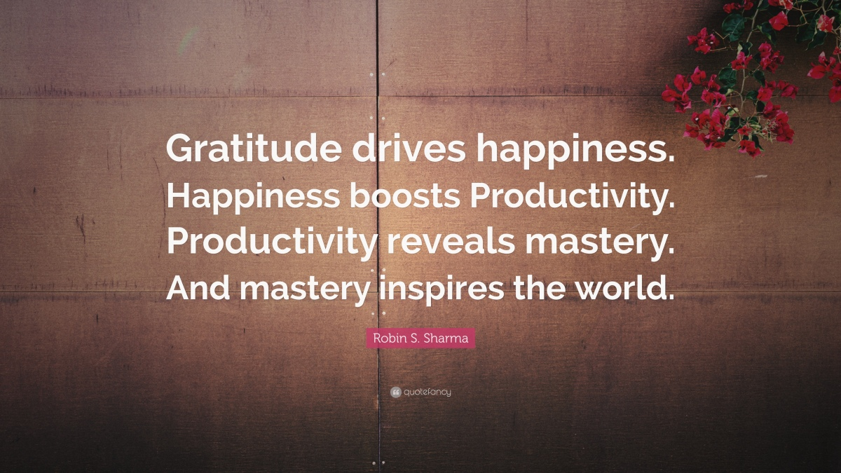 Developing an Attitude of Gratitude - Day 92